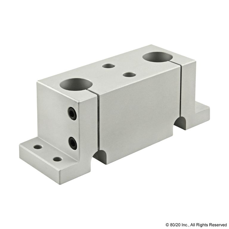Double Shaft Stanchion Base