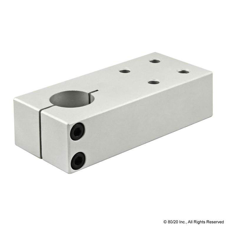 Single Shaft Pre-Drilled Stanchion Mounting Plate