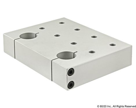 Double Shaft Pre-Drilled Stanchion Mounting Plate
