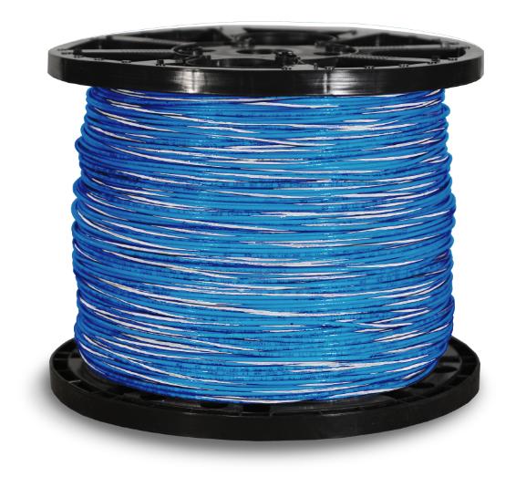 THHN_12str_2500ft_Blue_w_White_Stripe
