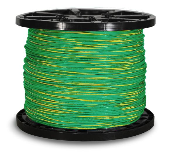 THHN_12str_2500ft_Green_w_Yellow_Stripe