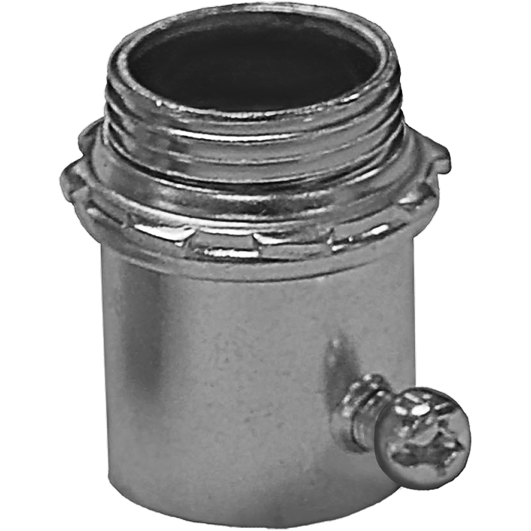Appleton® 4050S ETP™ 4000S Non-Insulated Straight Conduit Connector, 1/2 in Trade, For Use With EMT Conduit, Steel