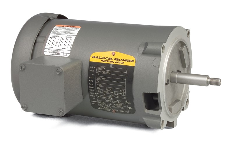 Baldor-Reliance JM3155 AC Induction Motor, 230/460 VAC, 2.7/5.4 A, on