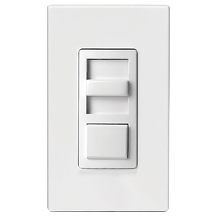 LEV IP710-LFZ SLIDE PUSHBUTTON DIMMER SP/3WAY FLUOR/LED, WHITE/IVORY/LIGHT ALMOND