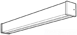 Lithonia Lighting® DWC48-A12 Lighting Diffuser, 4 ft L, Acrylic