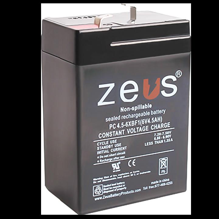 ZEUS PC4.5-6XB-F1 6V 4.5AH BATTERY