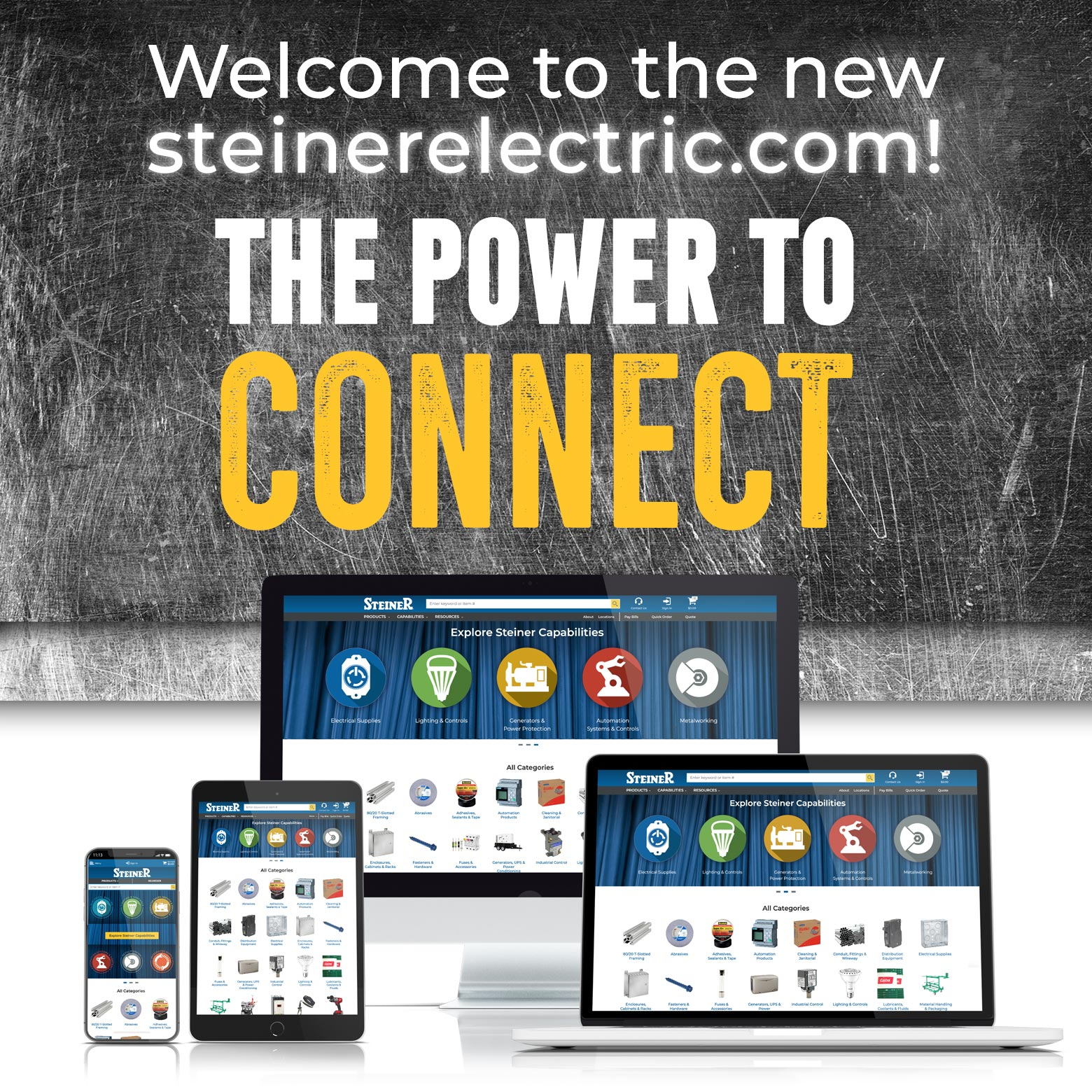Welcome to steinerelectric.com! THE POWER TO CONNECT