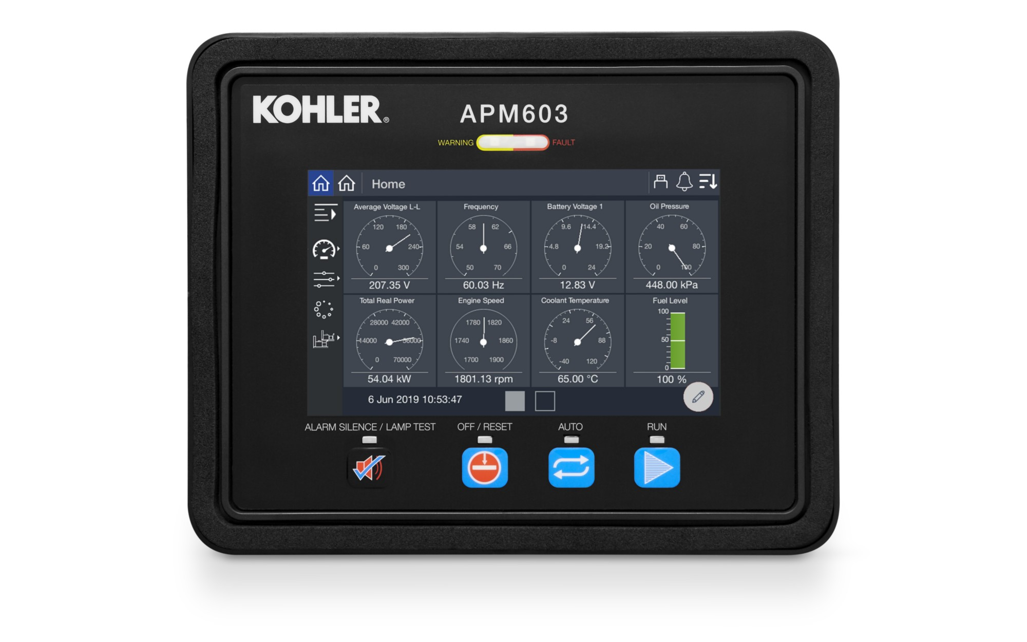 Kohler APM603 Generator Controller - Customized Touch Screen