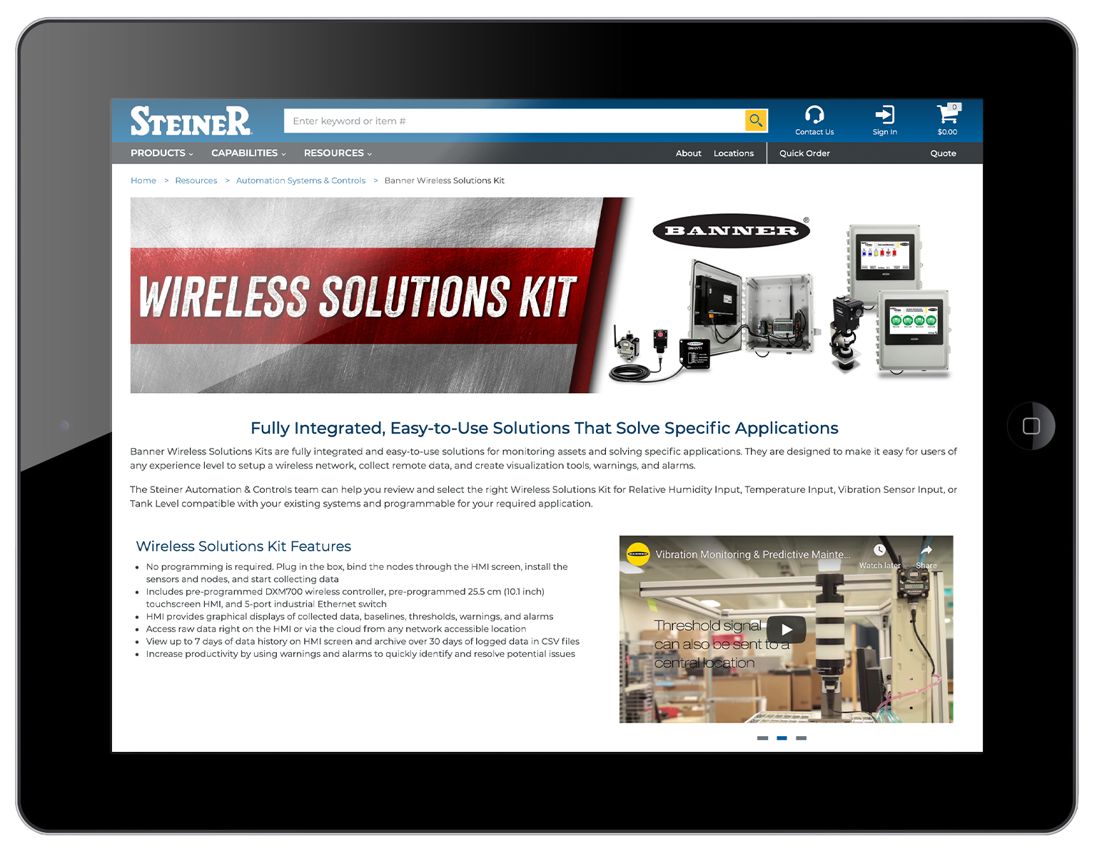 Banner Wireless Solutions Kit
