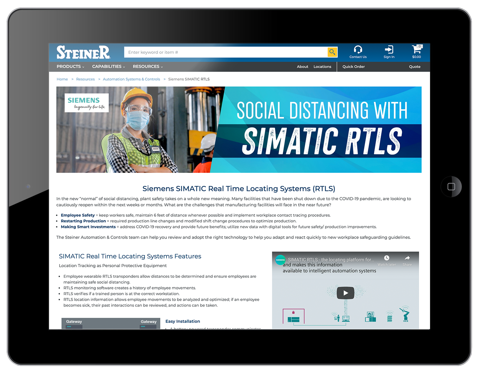 Siemens Simatic Real Time Locating Systems