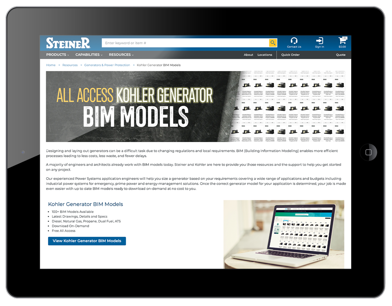 Kohler Generator BIM Models