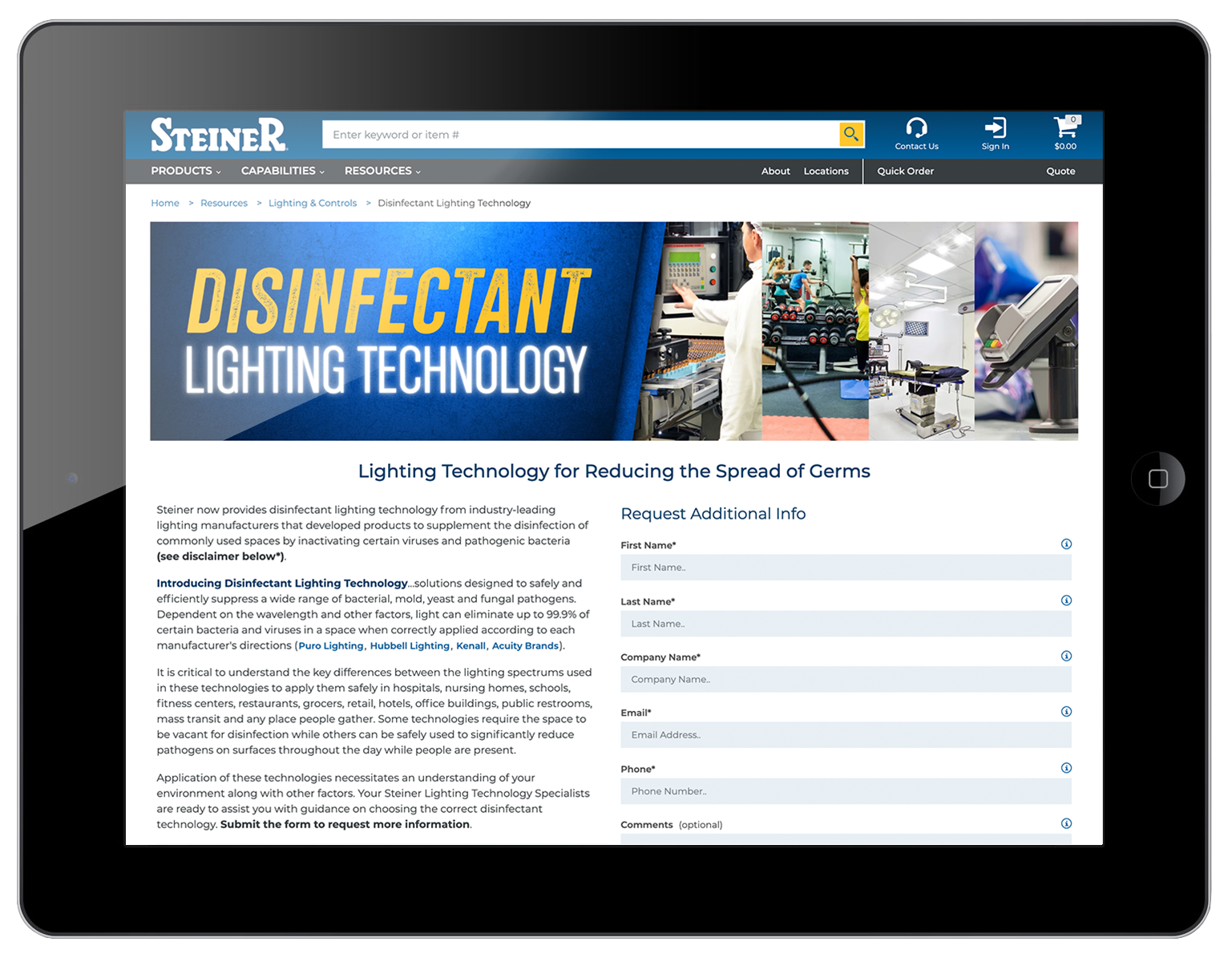 Disinfectant Lighting Technology
