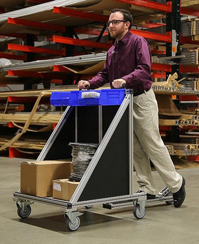 80/20 material handling carts