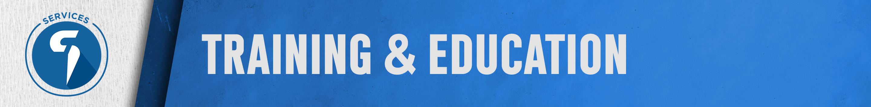 Training & Education Banner