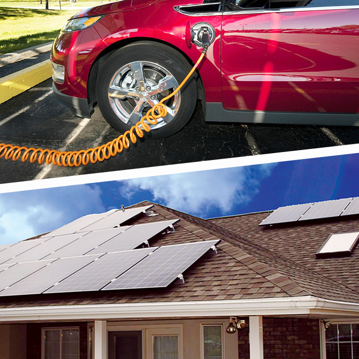 Solar Panels and EV Charging Stations