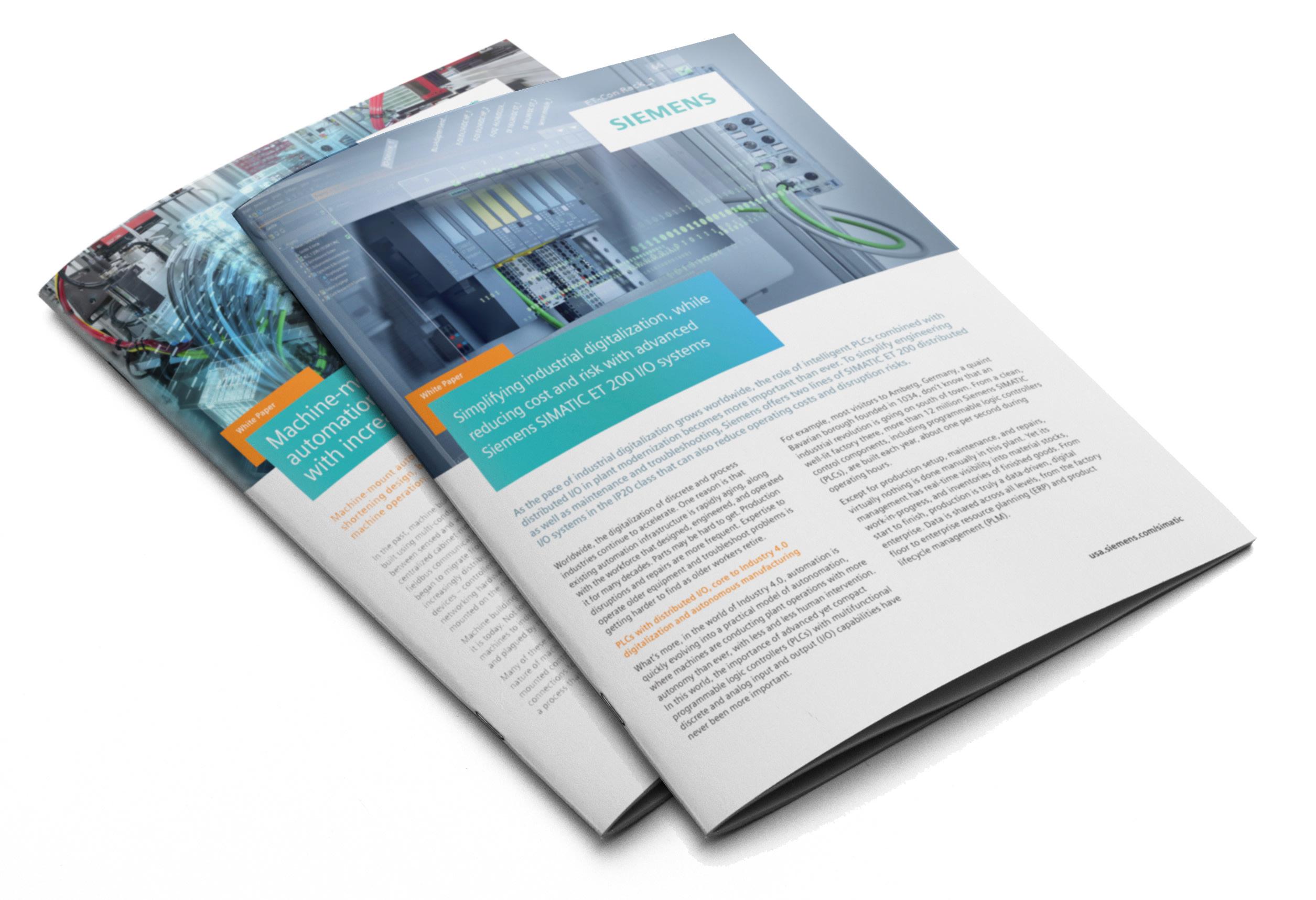 Siemens SIMATIC ET 200 Brochures & White Papers