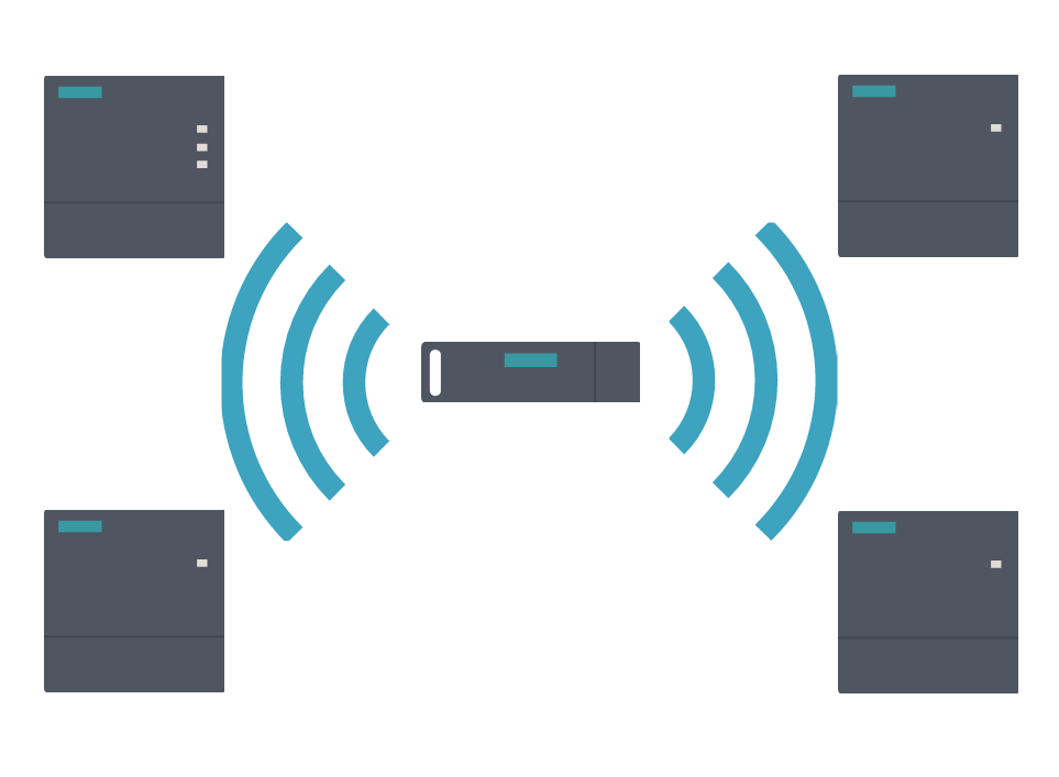 Siemens SIMATIC RTLS Simulation with Gateways and Transponder