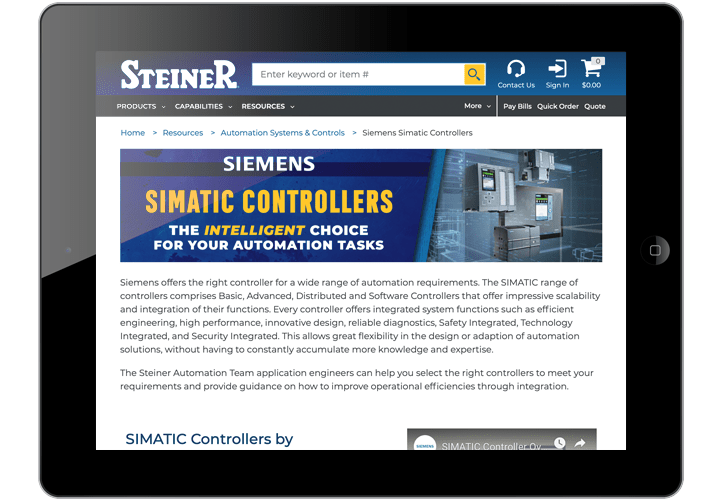 Siemens Simatics Controllers