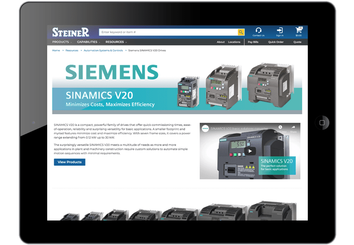 Siemens SINAMICS V20 Drives