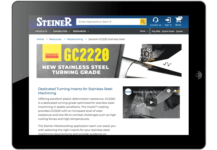 Sandvik GC2220 Turning Grade Inserts