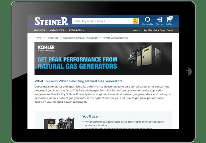 Kohler Gas Generators