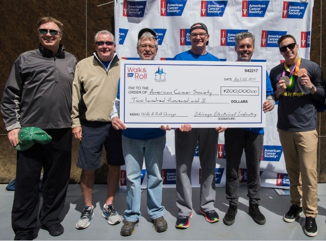 American Cancer Society Walk n Roll Check Presentation