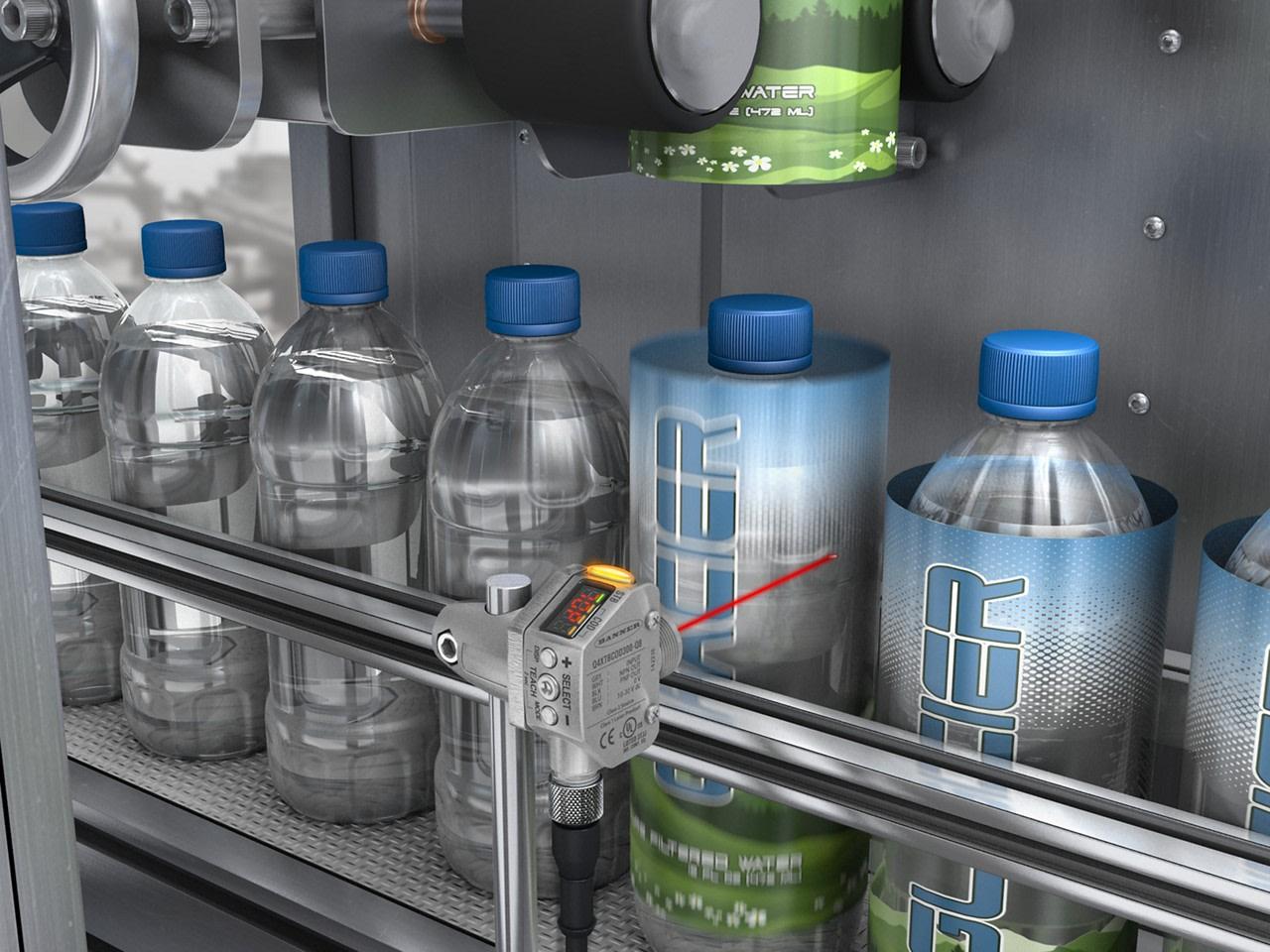 Detecting Clear Glass Bottles to Trigger Shrink Sleeve Labeler