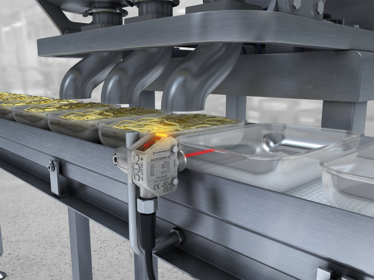 Clear Tray Detection at Hopper Food Storage Units