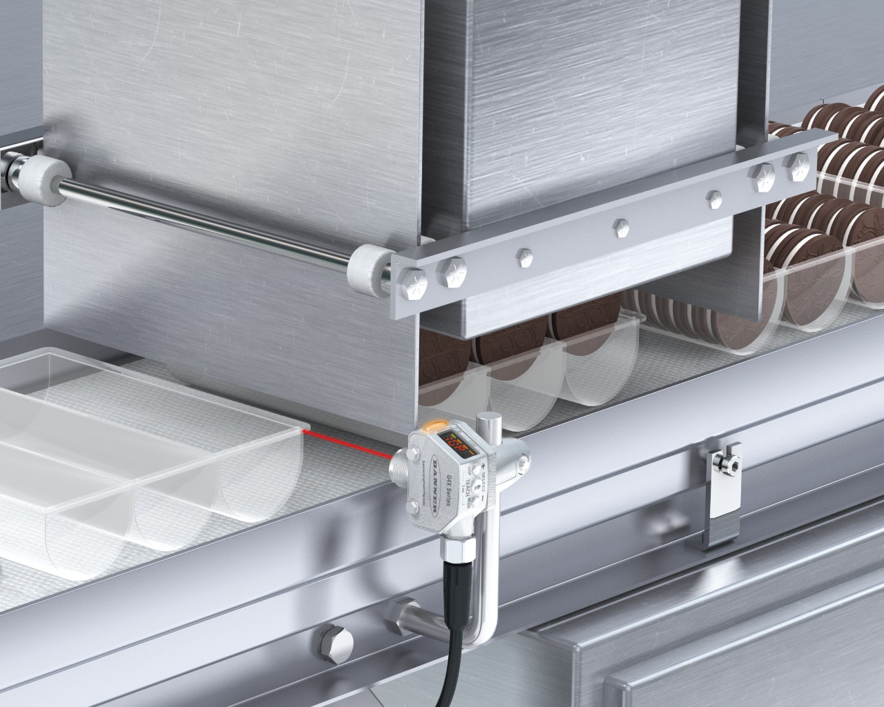 Clear Plastic Food Container Detection in a Sanitary Environment