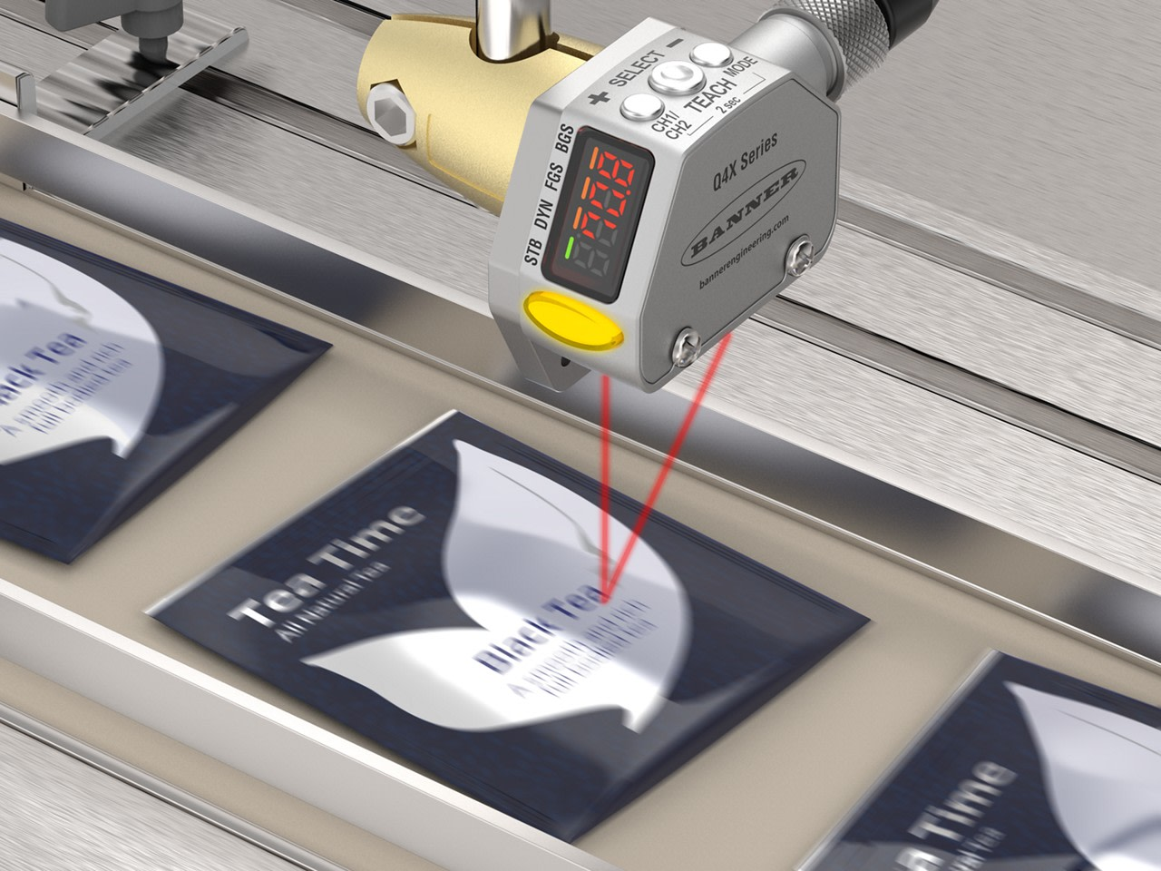 Counting Multicolored Reflective Packages on a Conveyer