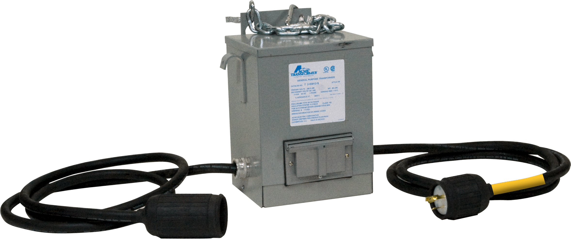 Step-down Transformer with GFI Receptacle