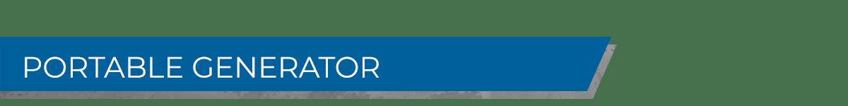 Portable Generators Banner