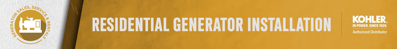 Residential Generator Installation