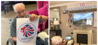 Care Home Residents Take on Virtual Cycle