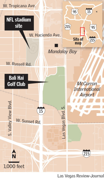 Bali Hai Golf Club site Las Vegas stadium