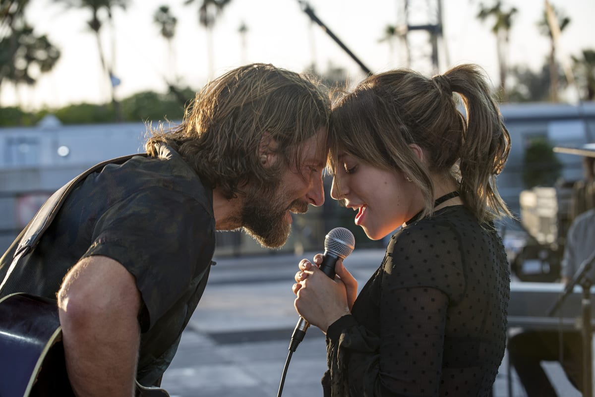 Bradley Cooper as Jack and Lady Gaga as Ally in the drama