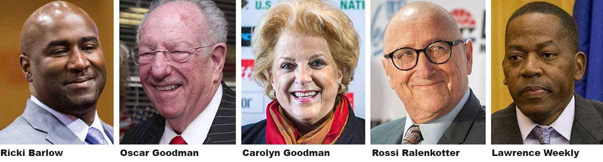 rickibarlow oscargoodman carolyngoodman rossiralenkotter lawrenceweekly(Las Vegas Review-Journal)
