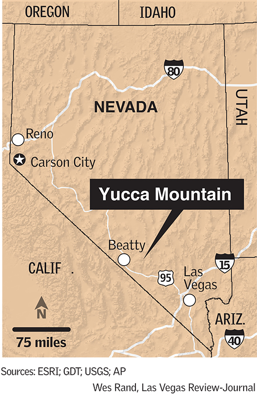 Yucca map (Wes Rand/Las Vegas Review-Journal)