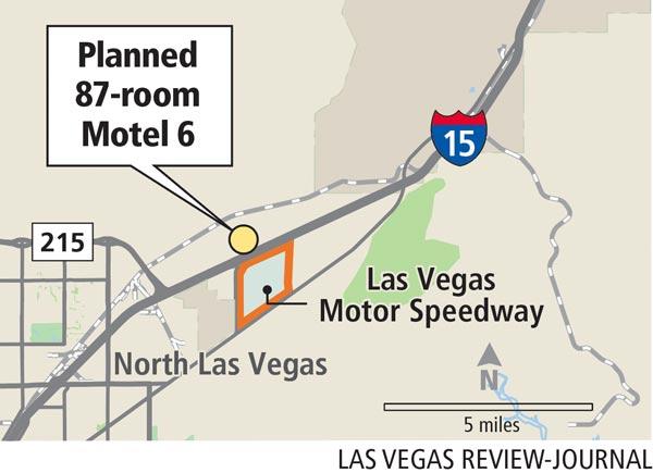 Planned 87-room Motel 6 in North Las Vegas (Gabriel Utasi/Las Vegas Review-Journal)