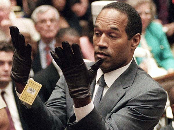 O.J. Simpson Nicole gloves fit acquit Cochrane