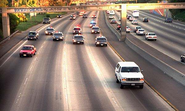 O.J. Simpson white bronco slow-speed chase Al Cowlings