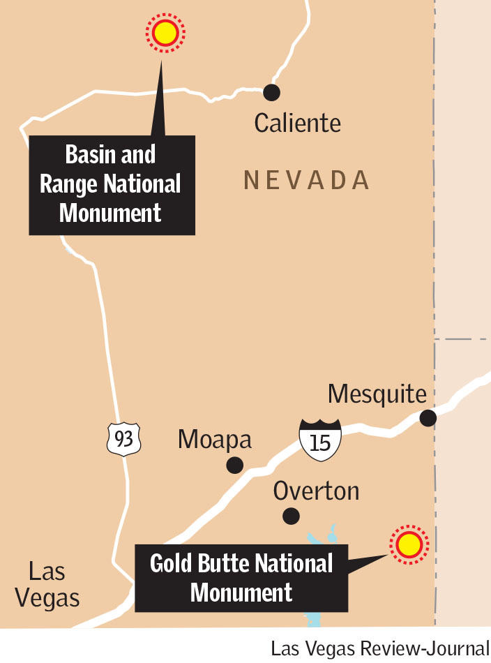 National monuments in Nevada(Las Vegas Review-Journal)