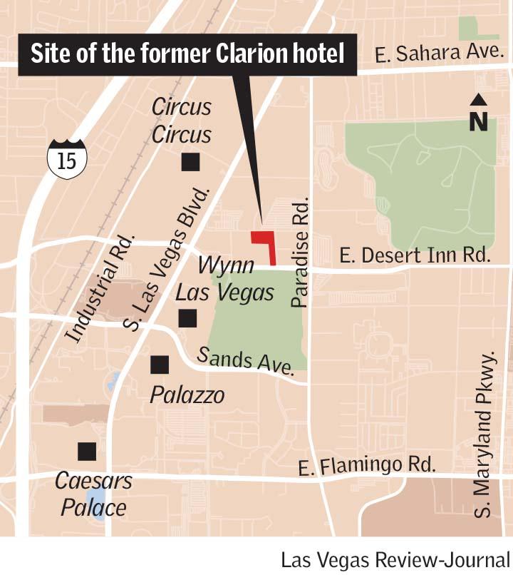 Clarion site Las Vegas Strip