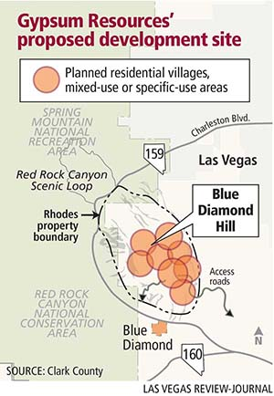 Gypsum Resources site map (Las Vegas Review-Journal)