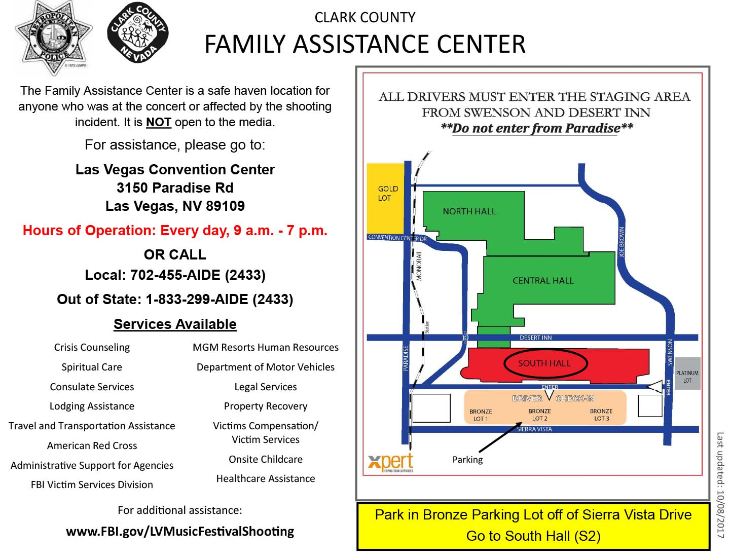 map family assistance center