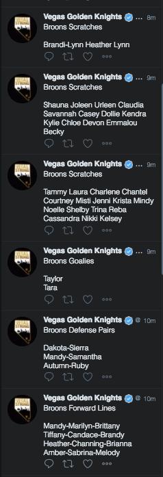 VGK Tweets (Las Vegas Review-Journal)