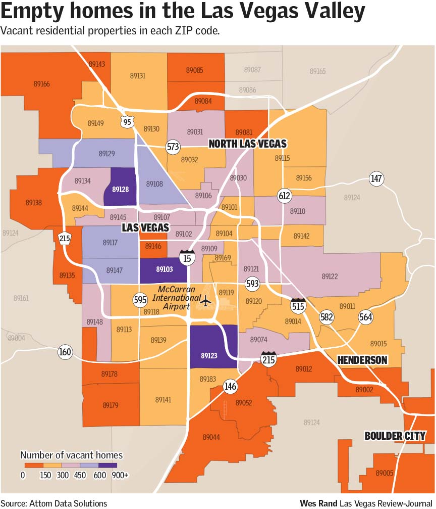 Vacant homes on the rise in Las Vegas Valley report indicates Las
