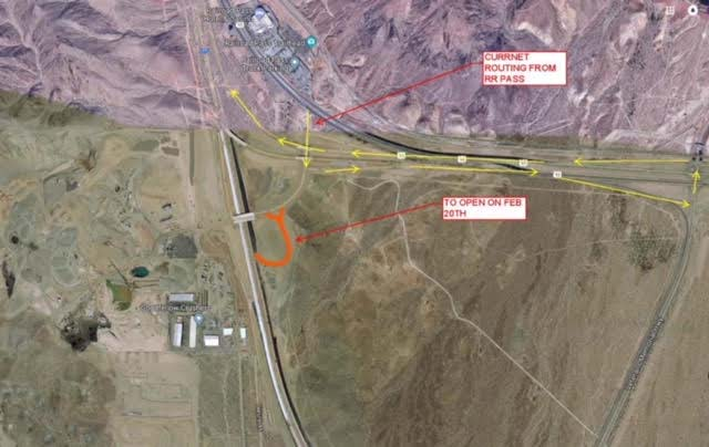 Nevada Department of Transportation Interstate 11 Railroad Pass Las Vegas Review-Journal