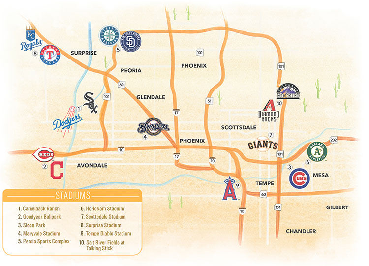 Cactus League Map