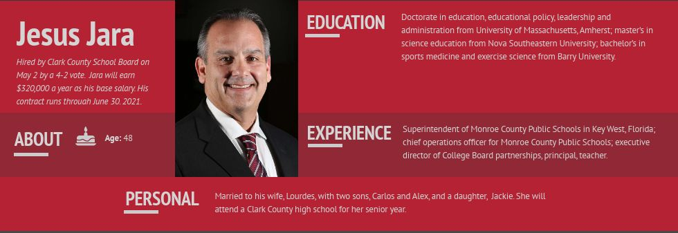 Jesus Jara, Clark County School District superintendent